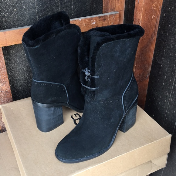 b08f7ab37ff New Ugg Black Jerene Bootie boots Sz 11 ❤️🌹❤️ NWT